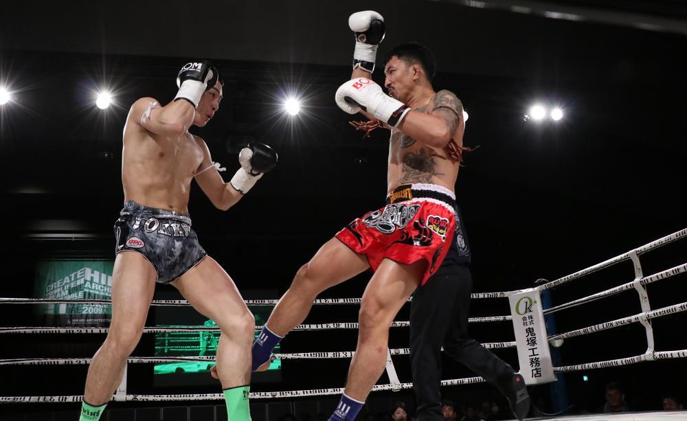 【BOM】パコーンがMMAローキックでNJKF王者に戦慄のKO勝ち、竜哉と朝陽はタイ人に揃ってKO勝ち