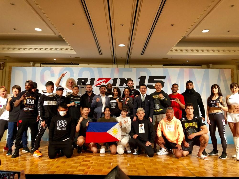 【RIZIN】全選手が計量クリア! パッキャオも来場=4月21日(日)「RIZIN.15」横浜アリーナ大会前日計量結果