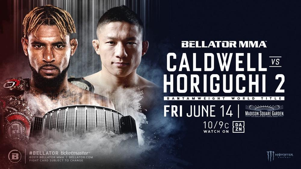 【Bellator】どうなる!? 堀口恭司vsダリオン・コールドウェル。6月14日、NY・MSGで再戦&Bellator世界バンタム級王座戦が正式決定!