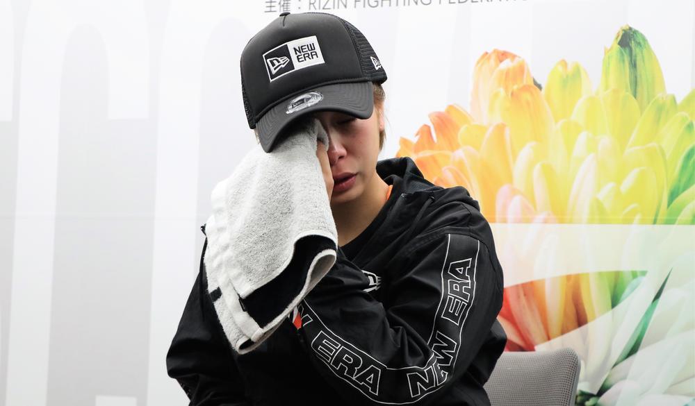 【RIZIN】山本美憂に敗れた浅倉カンナが号泣会見「腐らずにまたやり直そうと思います」