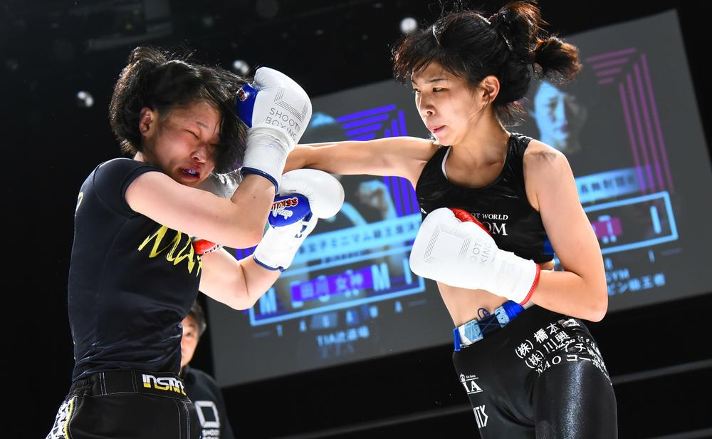 【シュートボクシング】RENAとMIOに次ぐ女子エース候補・田川女神、那須川天心妹と「いつか再戦したい」