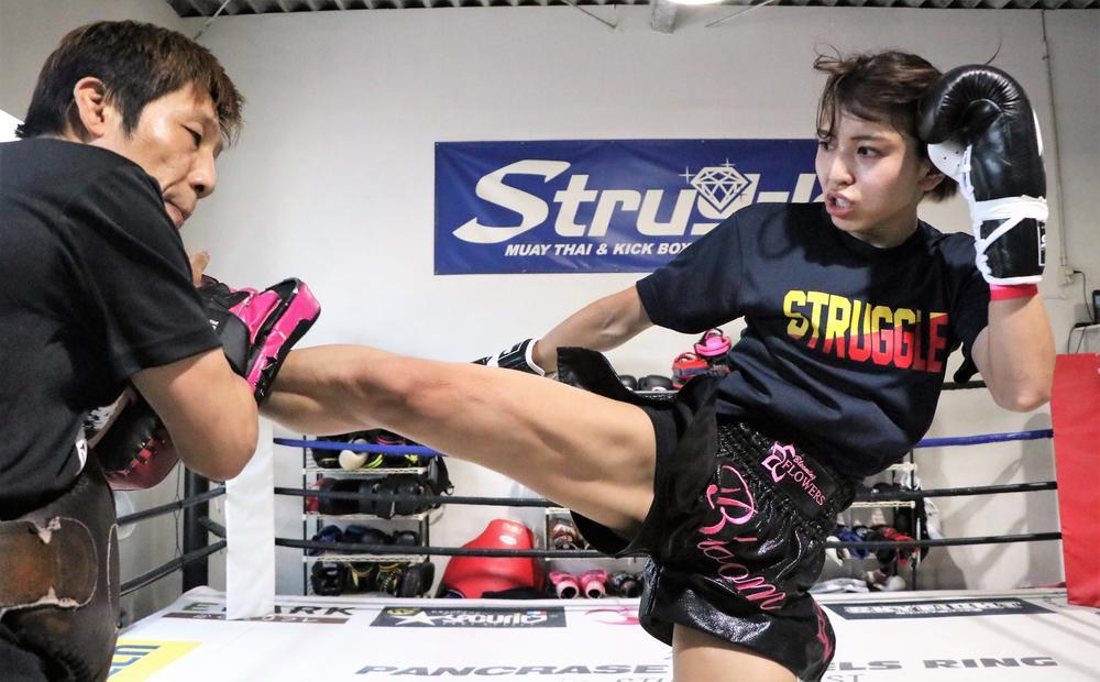 【KNOCK OUT】ぱんちゃん璃奈が公開練習「今までの女子とは違う戦い方をしたい。倒さないとヤバいですよ」