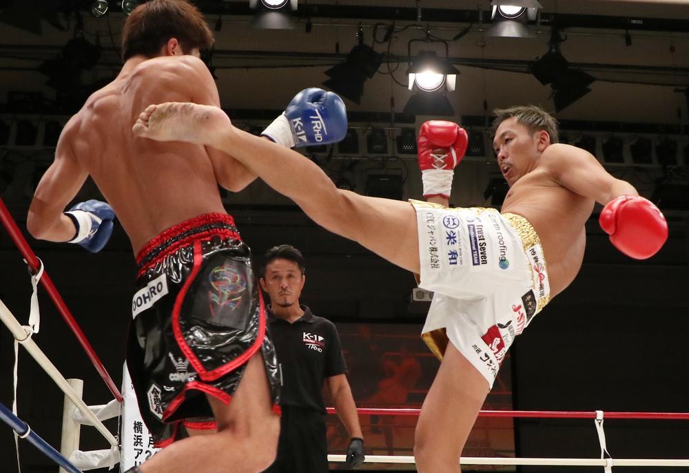 【K-1 KRUSH】鈴木勇人が乱戦を制して初防衛に成功、敗れた左右田泰臣は引退を表明。K-Jeeは親友RUIをKOして初代王者に