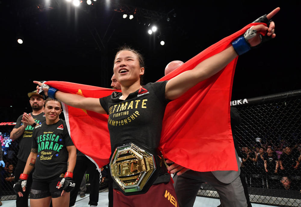 【UFC】UFC初の中国人世界王者誕生! ジャン・ウェイリがアンドレジを42秒TKOでストロー級新王者に