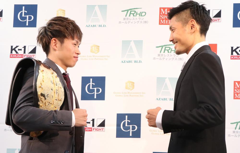 【K-1 KRUSH】王者・晃貴、元ボクサーの挑戦者・佐々木洵樹と「無理やりでも中に入って打ち合う」