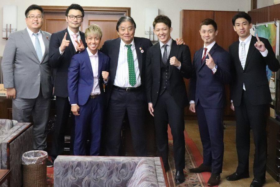 【K-1】名古屋市の河村たかし市長がKANA、野杁正明、大和哲也を激励「K-1でも名古屋を盛り上げていきましょう」