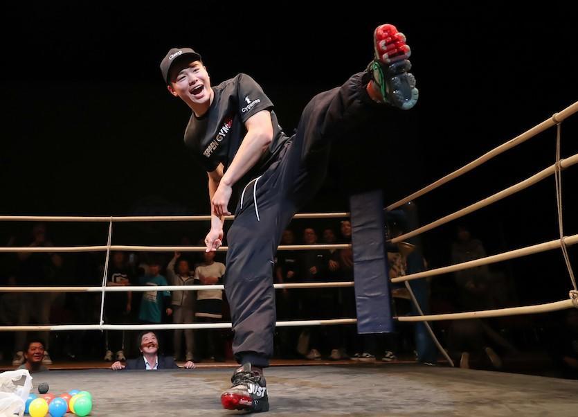 【DEEP☆KICK】弟が出場したリングで那須川天心が挨拶「大晦日のRIZINに出たいと思っています」