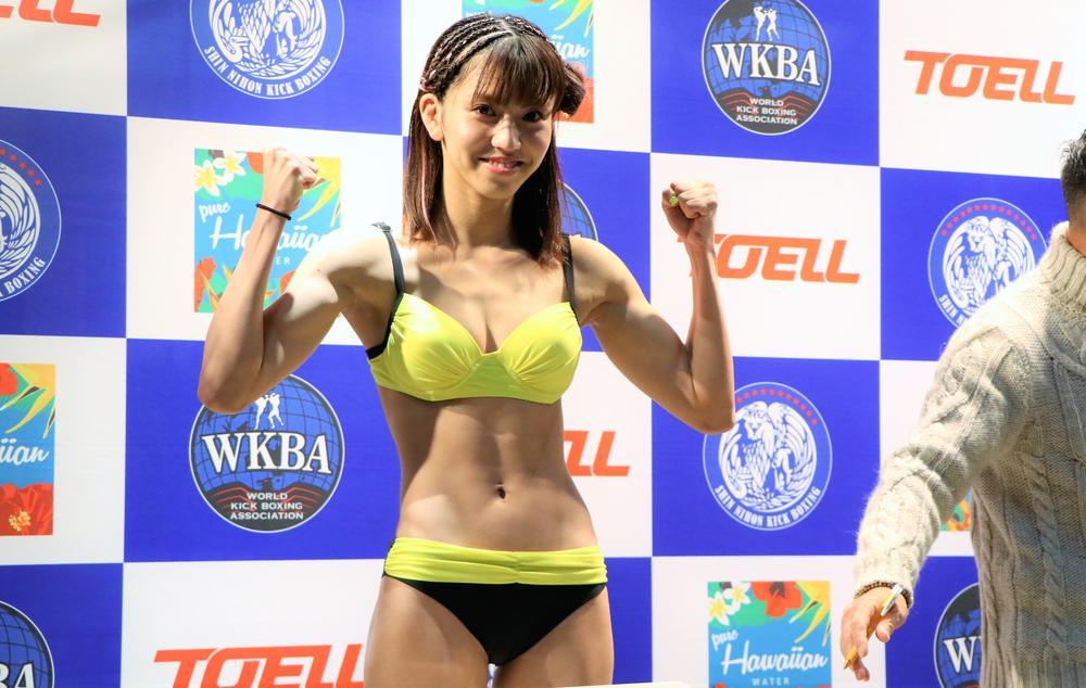 【新日本キック】ぱんちゃん璃奈が計量パス、技術も身体も進化に自信あり「1、2RでKOしたい」