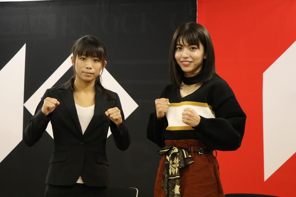 【KNOCK OUT】再戦に燃えるぱんちゃん璃奈「3分3R使う必要ない」とKO宣言、祥子も「今回はKO狙う」