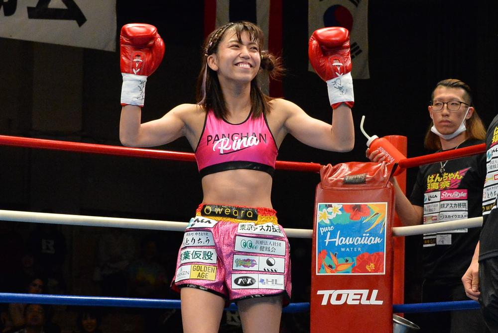 【KNOCK OUT】ぱんちゃん璃奈が度を超えた筋肉女子に、ファンは「背中に鬼がいる」