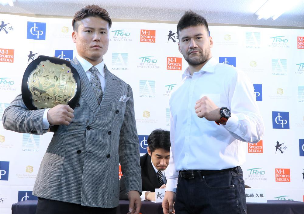 【Krush】K-Jeeと加藤久輝がタイトルマッチで再戦、K-Jee「今回は叩き潰したい」加藤「いつも通り潰しに行く」