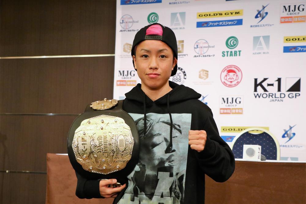 【K-1】一撃失神KO勝ちのKANA「オーバーハンドは練習していた」今後は世界トップ選手が標的