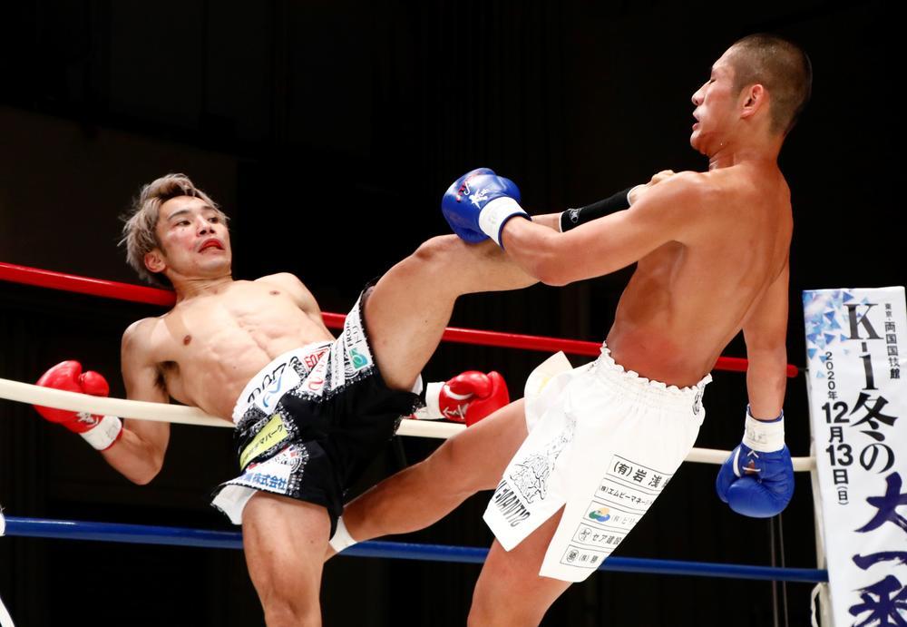 【Krush】佐々木大蔵が中野滉太と笑顔の殴り合い、蹴り合いでメインにふさわしい熱闘