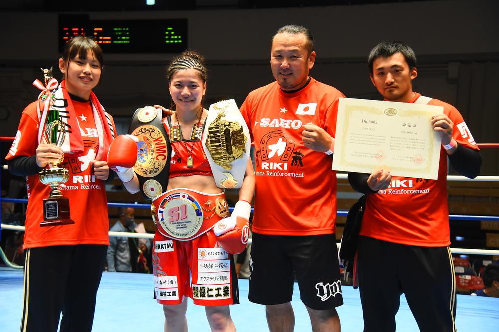 【NJKF】女子三冠王の☆SAHO☆がWBCムエタイ世界ランキングにランクイン、日本人女子は伊藤紗弥と2人のみ