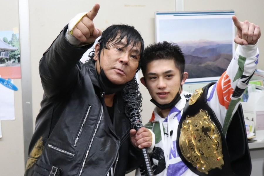 【K-1】爆破甲子園に興奮!壬生狼一輝がついに本家・大仁田厚と対面「絶対にトーナメントで優勝します」