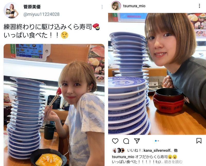 "【K-1】MIOと菅原美優がまさかの形で""前哨戦""、くら寿司決戦で皿を積み上げる"