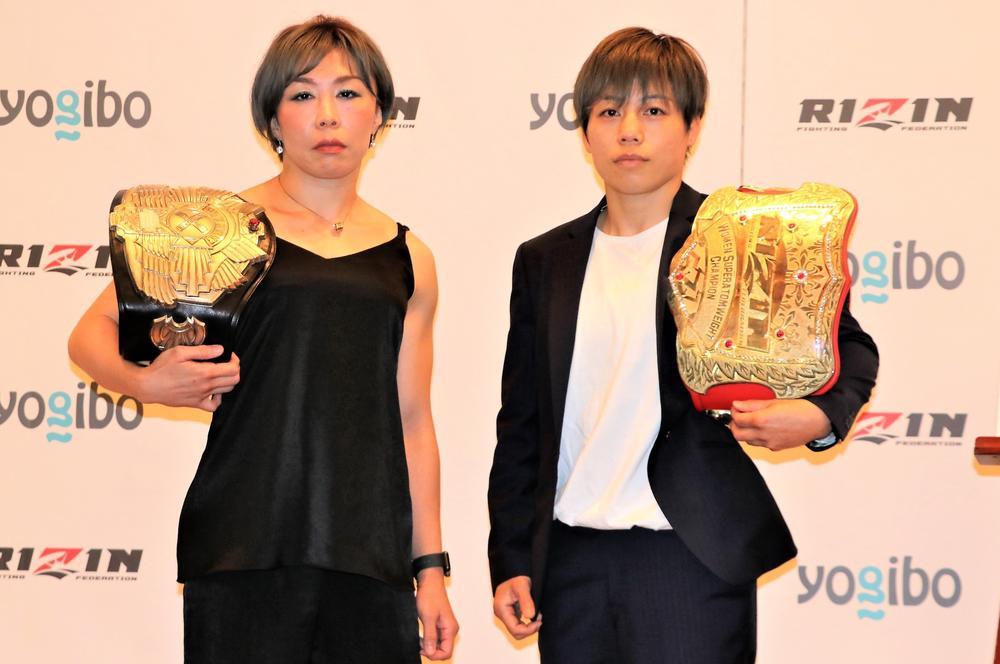 【RIZIN】女王・浜崎朱加とパンクラス王者の藤野恵実が対戦「ぬるいことをするつもりはない」(浜崎)=9月19日(日)さいたま
